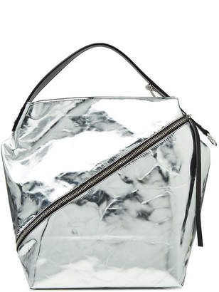 Proenza Schouler Zip Metallic Leather Tote