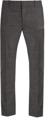 Alexander McQueen Mid-rise straight-leg wool trousers