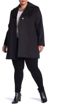 Fleurette Wool Coat (Plus Size)