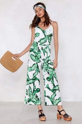 Nasty Gal I Plant Wait Palm Jumpsuit