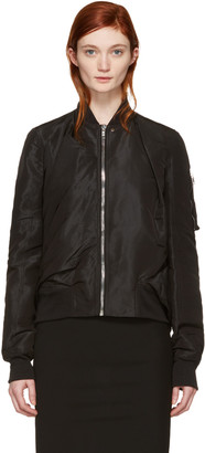 Rick Owens Black Swoop Flight Jacket $1,805 thestylecure.com