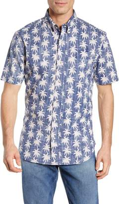Reyn Spooner My Maui Palm Tailored Fit Sport Shirt