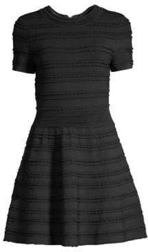 The Kooples Horizonal Scallop A-Line Knit Dress