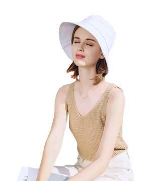 70ab649a AMAKU Bucket Hats Cotton Packable UV Protection Sun Hats Summer Beach Hats  for Women