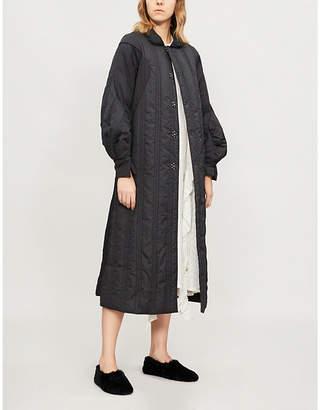 RENLI SU Padded cotton-blend coat