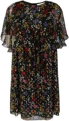 See by Chloe sheer ruffled floral dress