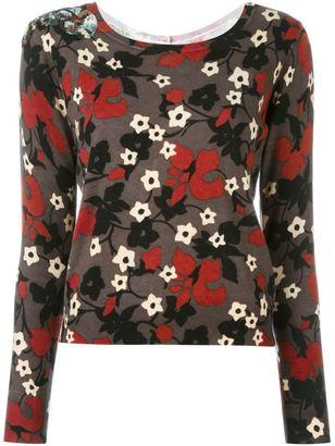 Twin-Set floral jumper $173.82 thestylecure.com