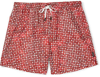 Ermenegildo Zegna Mid-Length Printed Swim Shorts - Red