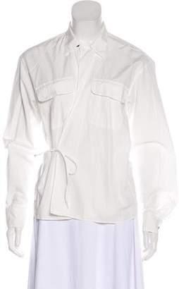 Tomas Maier Collar Long Sleeve Blouse