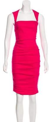 Nicole Miller Artelier Linen-Blend Dress