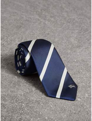 Burberry Slim Cut Striped Silk Twill Tie