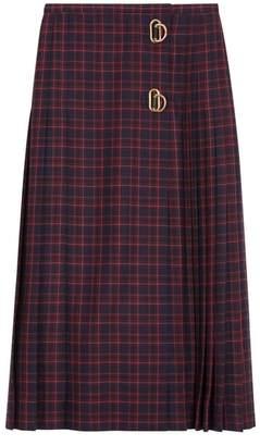 Burberry Tartan Wool Long Kilt