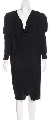 Jean Paul Gaultier Draped Midi Dress