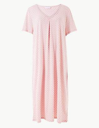 M S Collection Cotton Rich Printed Short Nightdress 2a43105b2