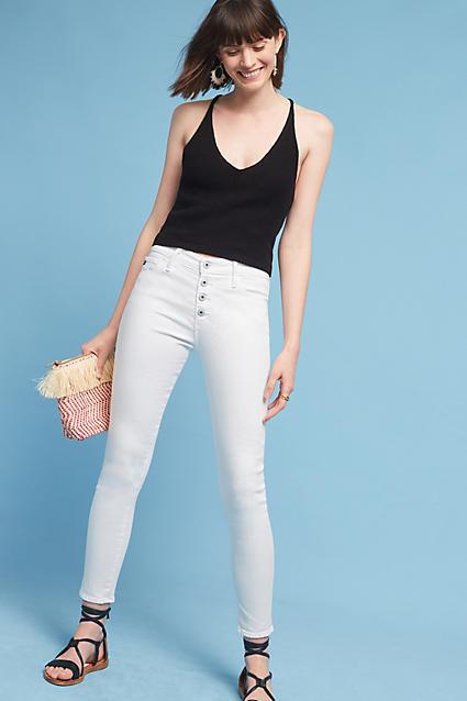 AG JeansAG Farrah High-Rise Button-Up Skinny Jeans