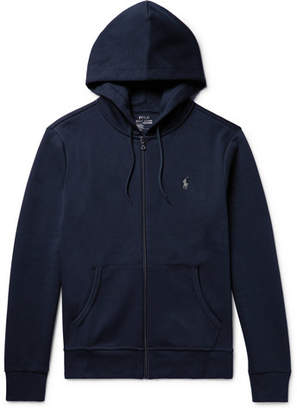 Polo Ralph Lauren Jersey Zip-up Hoodie - Midnight blue