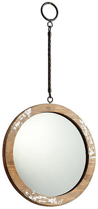 Cyan Through the Looking Wall Mirror - Antiqued White