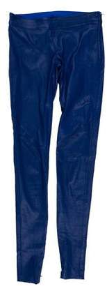 Mason Leather Blend Low-Rise Pants