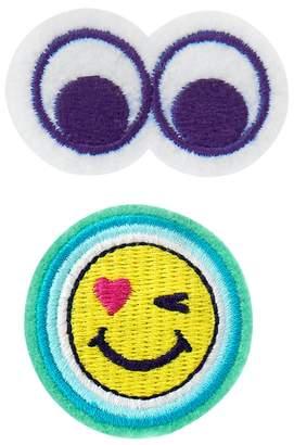 Crazy 8 Eyes Emoji Barrettes 2-Pack