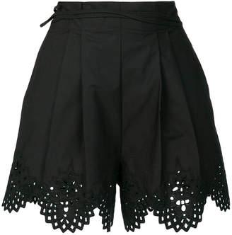 Ermanno Scervino embroidered scalloped edge shorts