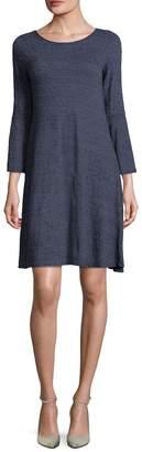 Three Dots Women's Jersey Flutter Dress