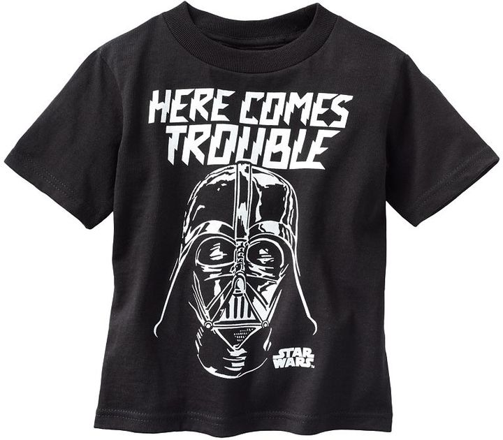 Star Wars darth vader here comes trouble tee - toddler
