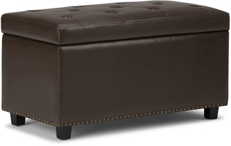 Simpli Home Hannah Storage Ottoman Bench