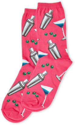 Hot Sox Pink Martini Socks
