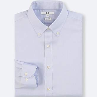 Uniqlo Men's Easy Care Oxford Stretch Slim-fit Long-sleeve Shirt