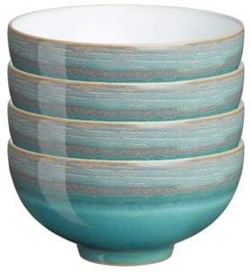 Denby Four-Piece Azure Coast Rice Bowl Set