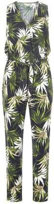 e4d9a714909c Dorothy Perkins Womens   Billie   Blossom Green Palm Print Jumpsuit
