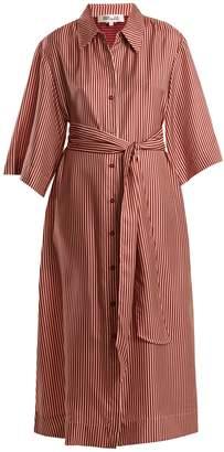 Diane von Furstenberg Striped silk-twill midi dress