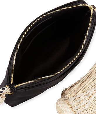 The Row Large Satin Tassel Wristlet Clutch Bag