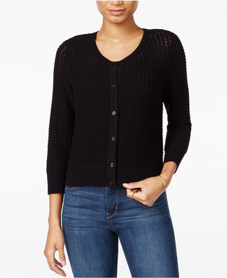 Maison Jules Honeycomb-Stitch Cardigan, Only at Macy's $59.50 thestylecure.com