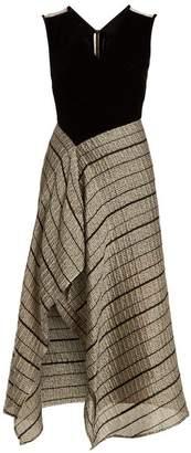 Roland Mouret Dursley contrast-panel sleeveless dress