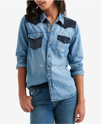 Lucky Brand Colorblocked Western Shirt