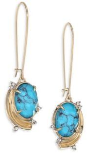 Alexis Bittar Elements Golden Array Infinity Wire Earrings $155 thestylecure.com