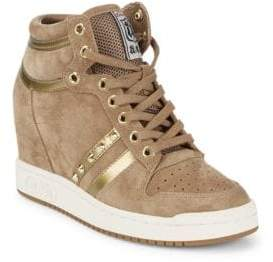 Ash Prince Leather Wedge Sneakers