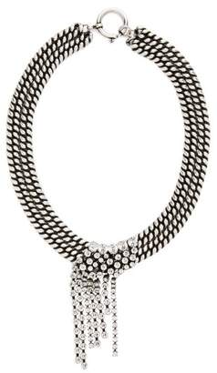 Isabel Marant Wild Shore Crystal Embellished Chain Necklace - Womens - Silver