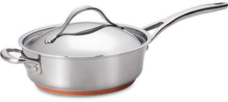 Anolon Nouvelle Copper Stainless Steel 3-Qt. Covered Saute Pan