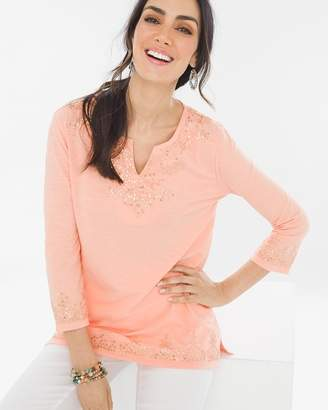 Chico's Chicos Embellished Tunic