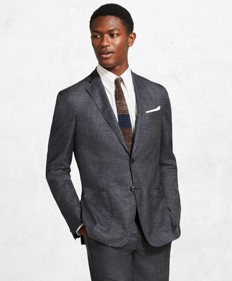 Brooks Brothers Golden Fleece BrooksCloud Grey Plaid Suit