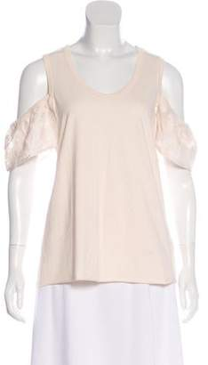 See by Chloe Short Sleeve Scoop Neck Top