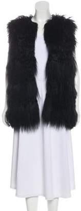 Chloé Reversible Mongolian Fur Vest Black Chloé Reversible Mongolian Fur Vest