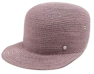 Maison Michel Shariff Straw Hat - Womens - Purple 3ef80c1d03e4
