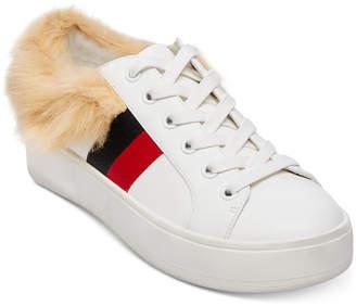 Steve Madden Women's Belle Faux-Fur Lace-Up Sneakers