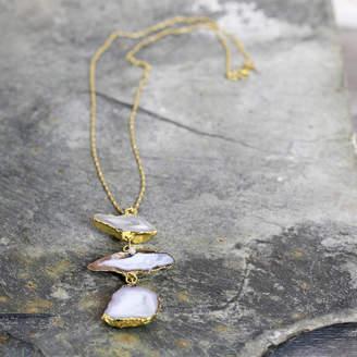 Artique Boutique Geode And Diamond Statement Necklace