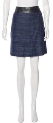 Akris Punto Silk Tweed Skirt w/ Tags