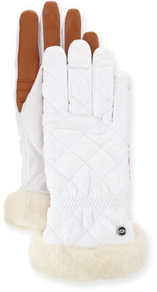 UGG Carry Forward Quilted Smart Gloves, White $85 thestylecure.com