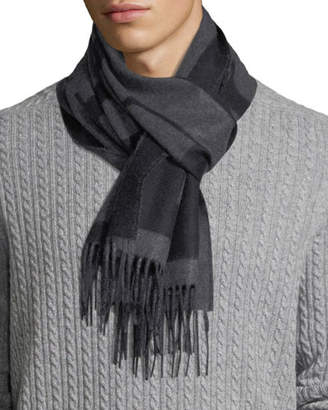 Burberry Men's Slim Cashmere Check Scarf